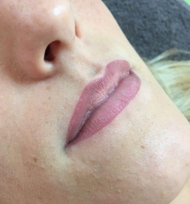 Permanent Make-up Lippen nachher