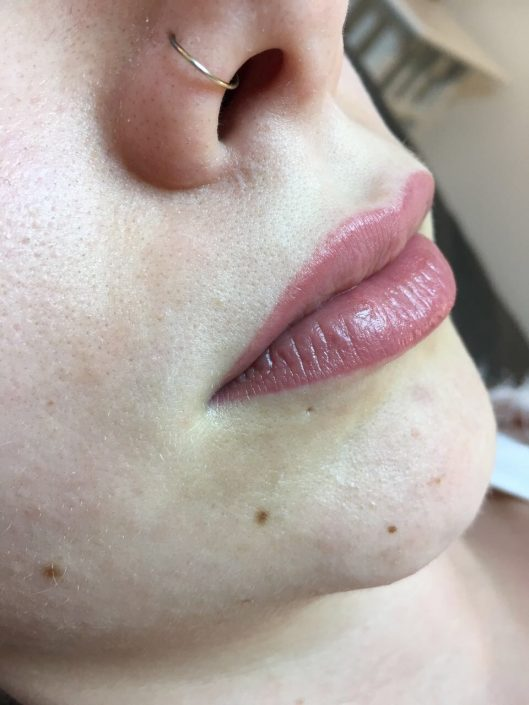 Permanent Make-up Lippen nachher